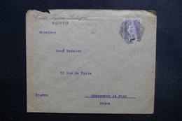 PORTUGAL  - Enveloppe Commerciale De Porto Pour La France En 1923, Affranchissement Plaisant Perforé - L 49119 - 1910-... Republiek