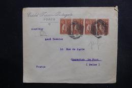 PORTUGAL  - Enveloppe Commerciale De Porto Pour La France En 1922, Affranchissement Plaisant Perforés - L 49121 - 1910-... Republiek