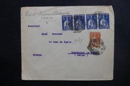 PORTUGAL  - Enveloppe Commerciale De Porto Pour La France En 1922, Affranchissement Plaisant Perforés - L 49122 - 1910-... Republiek