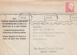 1958 Malmo Sweden Cover Fluorine Dental Caries Prevention Dentist Dentistry - Medicina