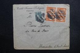 PORTUGAL  - Enveloppe Commerciale De Porto Pour La France En 1923 , Affranchissement Plaisant  Perforé - L 49125 - 1910-... République