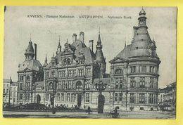 * Antwerpen - Anvers - Antwerp * Banque Nationale, Nationale Bank, Tram, Vicinal, Animée, Rare, Old - Antwerpen