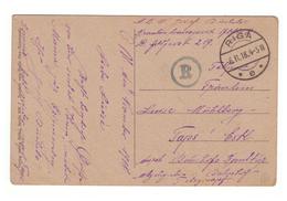 German Censorship During OB.OST On PC Riga To Reval,Tallinn,Estonia,1918 - Lettonie