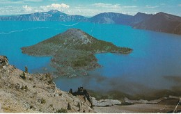 Crater Lake National Park, Oregon Olympic Stamp Appears To Have Been Cut Across Top Somw Wear - United States