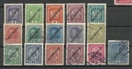 Österreich Austria 1918/19 Michel 228 - 243 O/* - 1918-1945 1. Republik