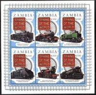 ZAMBIA, 1997, TRAINS, YV#643-48, MNH - Trains