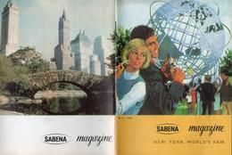 SABENA MAGAZINE - NEW YORK WORLD'S FAIR - 1964 - N° 48. - Aviation