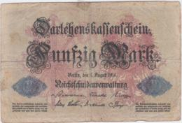 German Empire Banknote From 5.8.1914 50 Mark Well Used (G107-16) - [ 2] 1871-1918 : German Empire