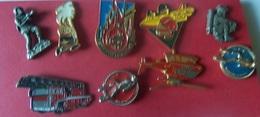 LOT DE 10 PIN'S POMPIERS - Pompieri