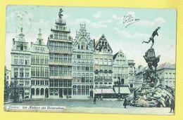 * Antwerpen - Anvers - Antwerp * (KLEUR) Les Maisons Des Corporations, Grand'Place, Grote Markt, Fontaine Brabo - Antwerpen