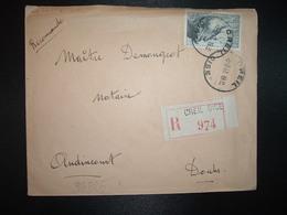 LR TP POINTE DU RAZ 20F OBL. HOROPLAN 5-9 47 CREIL OISE (60) - Postmark Collection (Covers)