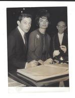 SERGE GAINSBOURG  - Françoise Pancrazzi  Mariage 1964 Phot. De Presse - Reproductions