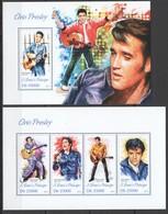 ST1760 2013 S. TOME E PRINCIPE FAMOUS PEOPLE ELVIS PRESLEY KB+BL MNH - Elvis Presley