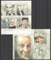 ST1810 2013 S. TOME E PRINCIPE 30TH ANNIVERSARY LOUIS DE FUNES KB+BL MNH - Actors