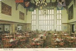 Bloomington IN - Indiana University Tudor Room Postcard 1983 - Bloomington