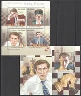 ST1821 2013 S. TOME E PRINCIPE SPORT CHESS CHAMPION BOBBY FISCHER KB+BL MNH - Chess