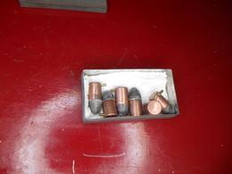 Six Balles à Broche Poudre Noire Cal 12 - Armi Da Collezione