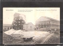 Beeringen Travaux Des Charbonnages   Tour De Fonçage Et Centrale Electrique - Beringen