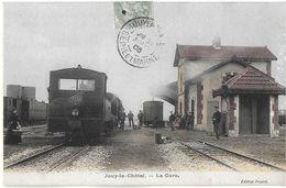 JOUY-LE-CHATEL 77 SEINE ET MARNE LA GARE EDIT.PICARD GROS PLAN SUR TRAIN - Frankreich