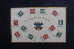 FRANCE - Carte Postale - Représentations De Timbres Au Type Semeuse - Langage Des Timbres - L 49155 - Postzegels (afbeeldingen)