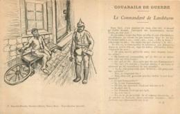 COUARAILS DE GUERRE LE COMMANDANT DE LANDSLURM CASQUE A POINTE - Patriotiques
