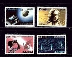 Zambia 354-57 MNH 1986 Halleys Comet - Zambia (1965-...)