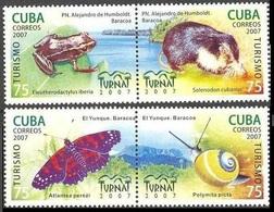 2007Cuba4982-85PaarButterflies6,00 € - Papillons