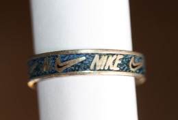 "Bague Argent 925 Publicitaire Marque De Chaussures ""Nike"" - Silver Ring - Ring"
