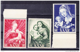 SARRE, MI 351/3, YT 331/3 ** MNH. (4A160) - 1947-56 Occupation Alliée
