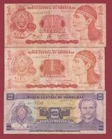 Honduras 3 Billets Dans L 'état Lot N °2 (87) - Honduras