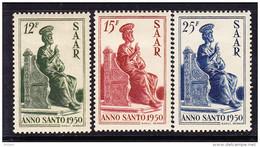 SARRE, MI 293/5, YT 273/5 * MH. (4A152) - 1947-56 Occupation Alliée