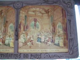 3 Cartes Photos Stéréoscopiques:Les Théatres  - BK Paris - état  Excellent Voir Scan - En Couleurs Phénoménales 19th - Stereoscopische Kaarten