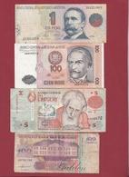 Autres-Amérique  4 Billets Dans L 'état Lot N °2 (90) - Billetes