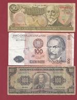 Autres-Amérique  3 Billets Dans L 'état Lot N °5  (93) - Billetes