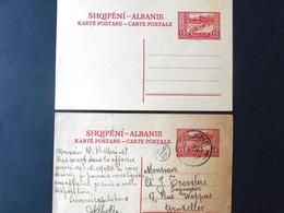 Albanie : 2 Postwaardestukken / Entiers Postales (1923) - Albania