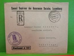 Conseil Supérieur Des Assurances Sociales, Luxembourg. Recommandé - Luxemburg
