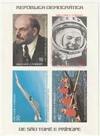 SAINT THOMAS Et PRINCE - BLOC N°4 ** (1977) Lénine/TU 144/aviron/Youri Gagarine.NON DENTELE- - Sao Tome En Principe