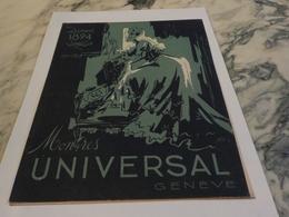 ANCIENNE PUBLICITE MONTRE UNIVERSAL  1943 - Bijoux & Horlogerie