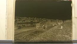 CONSTRUCTION D UNE ROUTE EN BORD DE FLEUVE - PLAQUE DE VERRE PHOTO 12 X 9 CM - Plaques De Verre