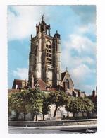 10 Nogent Sur Seine N°11 Eglise Saint St Laurent XV Et XVIème En 1963 Pancartes Paris Sézanne Troyes - Nogent-sur-Seine