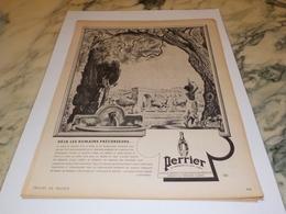 ANCIENNE PUBLICITE LES ROMAINS ET  PERRIER  1943 - Manifesti