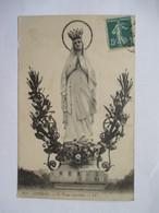 LA  VIERGE  COURONNEE  -  LOURDES        .....   ROGNURES  AU  VERSO - Vergine Maria E Madonne