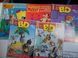 MICKEY LOT DE 2 BD  LE JOURNAL DE MICKET ET DE 3 BD LE JOURNAL DE LA BD - Lots De Plusieurs BD