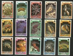 Virgin Islands - 1985 Marine Life Officials Silver Overprint Set Of 15 MNH **  SG O1-15  Sc O1-15 - British Virgin Islands
