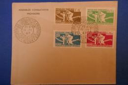 104 FRANCE LETTRE 1943 ALGER TRES RARE COMITé DE LIBERATION REP FRANCAISE EN CORSE LIBEREE  + AFFRANCHISEMENT PLAISANT - France