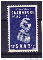 SARRE, MI 341  ** MNH. (4A143) - 1947-56 Occupation Alliée