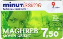 Minutissime 9 Telecom - MAGHREB - MOYEN-ORIENT 7,50€ - Telecom Operators