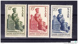 SARRE, MI 293/5 ** MNH. (4A139) - 1947-56 Occupation Alliée