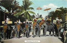 Pays Div-ref W471- Myanmar - Burma - Burmese Festivity - Elephant - Elephants  - - Myanmar (Burma)