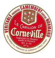 ETIQUETTE De FROMAGE. CAMEMBERT NORMAND..Le Carillon De Corneville..Fromagerie De CORNEVILLE Sur RISLE (27) - Fromage